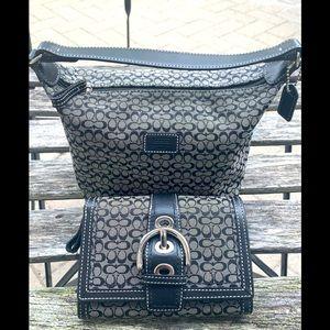 💙 Brand New Coach Signature💙 Mini Bag & Wallet